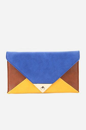 Urban Outfitters	Colorblock Envelope Clutch -