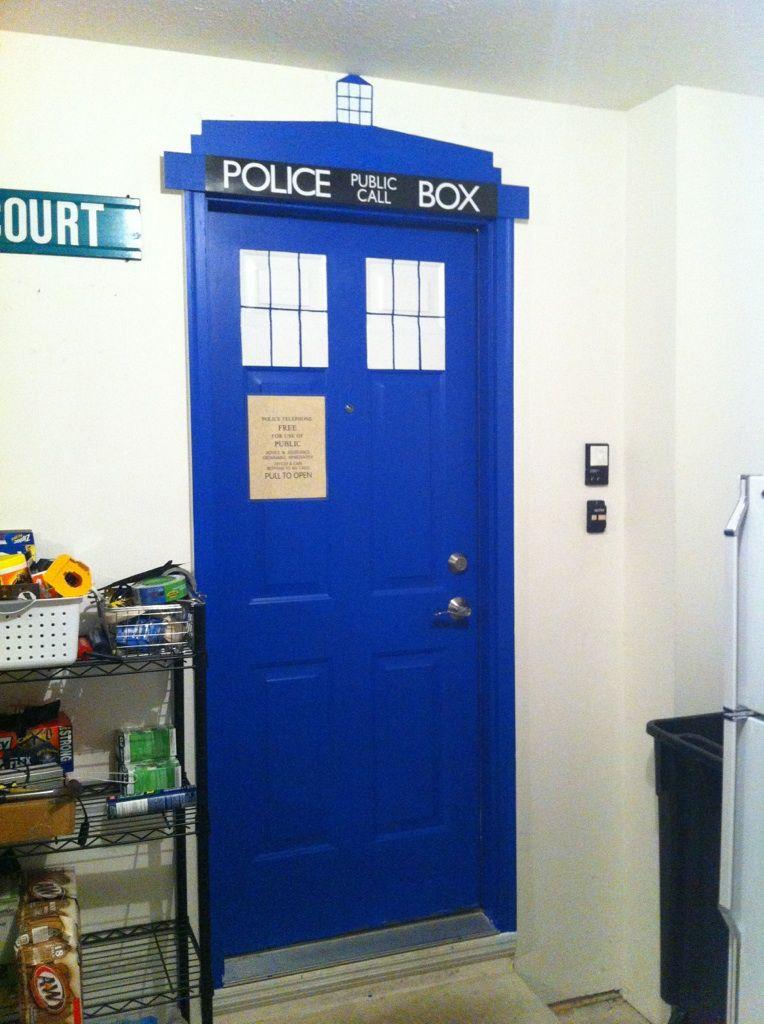 good looking doctor who tardis door decal. How to Paint a Door Like TARDIS  Tardis door and Doors