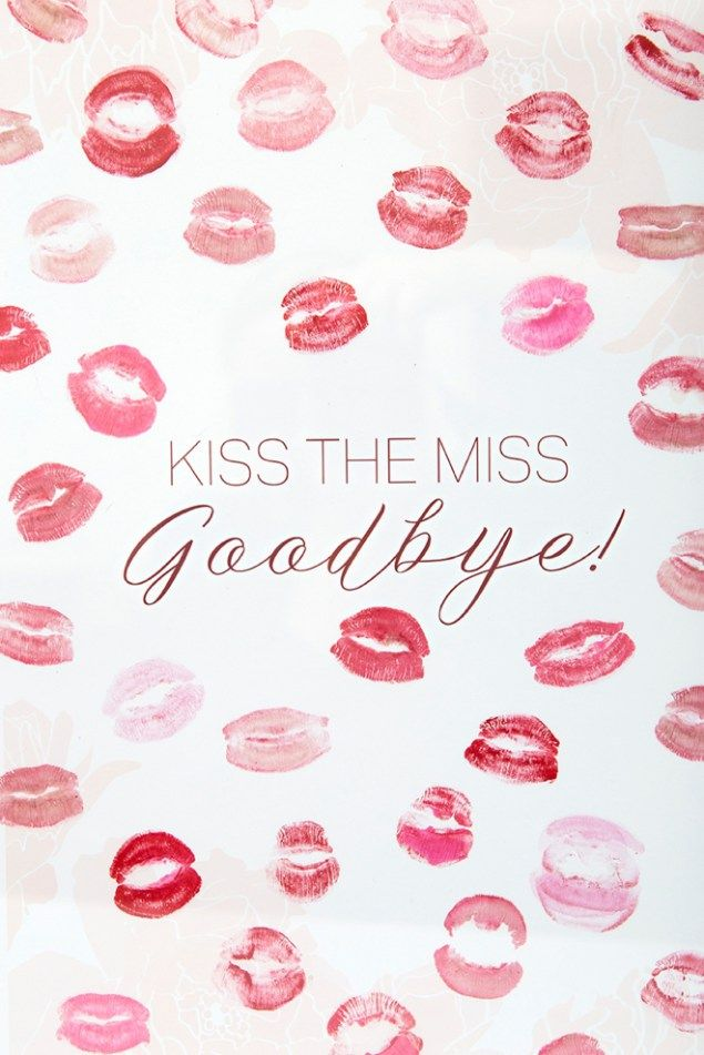 Free Printable Kiss The Miss Goodbye Kissable Guestbook Awesome Bachelorette Party Bridal Shower Diy Engagement Party Guest