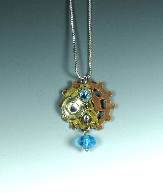 A Drop of Technology Steampunk Necklace by horatiomcgillicuddy