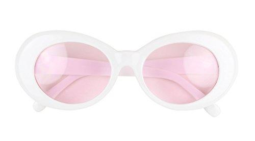 White Clout Goggles Pink Lenses Kurt Cobain Glasses Clout Glasses Pink Glasses Pink Cool Photos Retro Pop