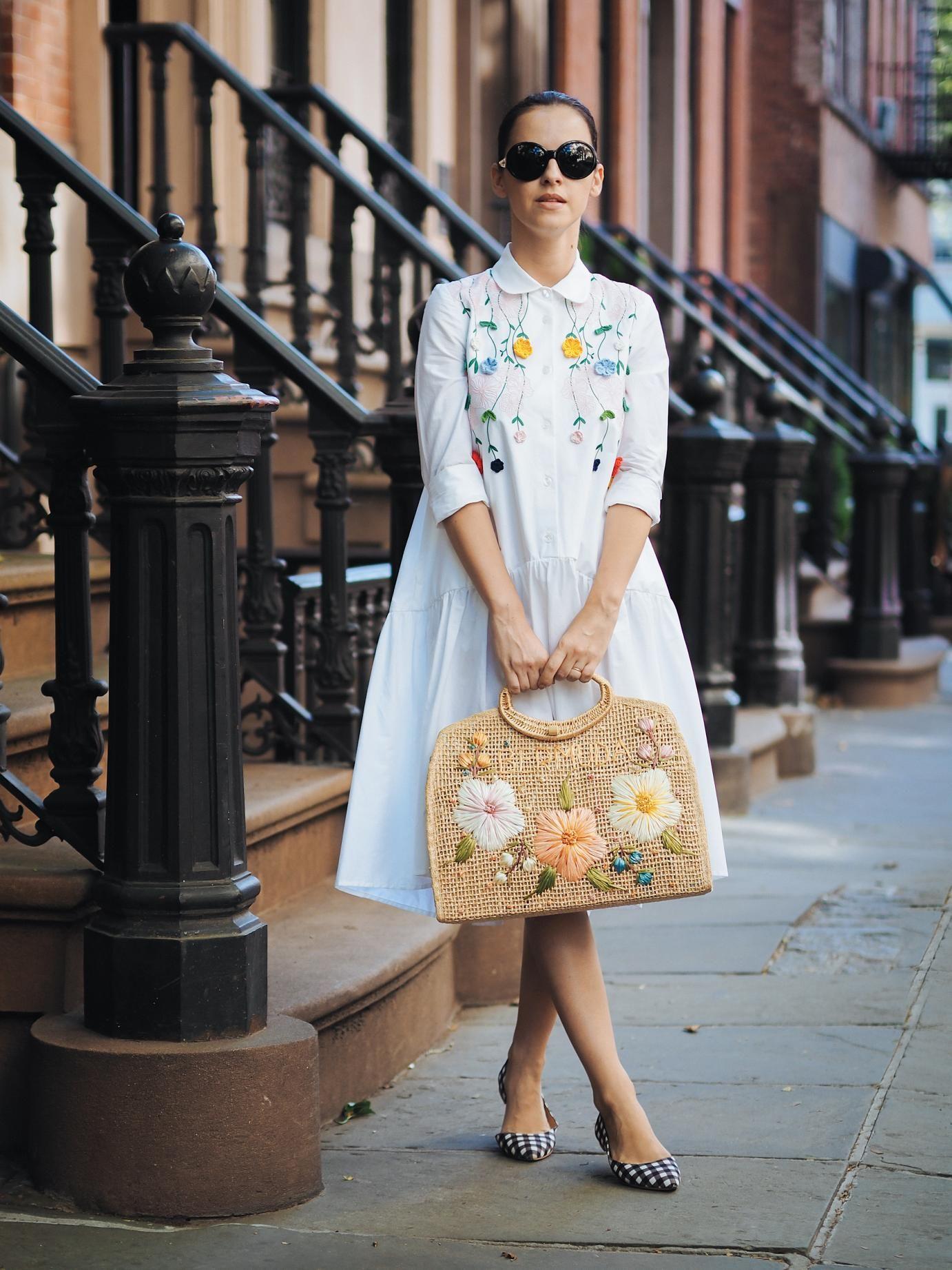 golinha + floral + bolsa de palha