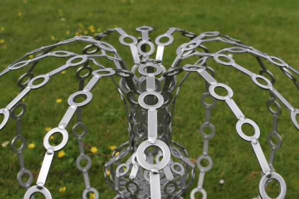 Stainless steel #sculpture by #sculptor James Jones titled