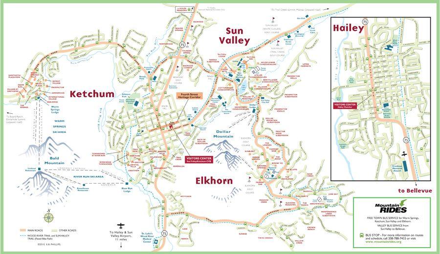 wood river valley idaho map Ketchum Sun Valley Area Maps Area Map Sun Valley Idaho Vacation wood river valley idaho map
