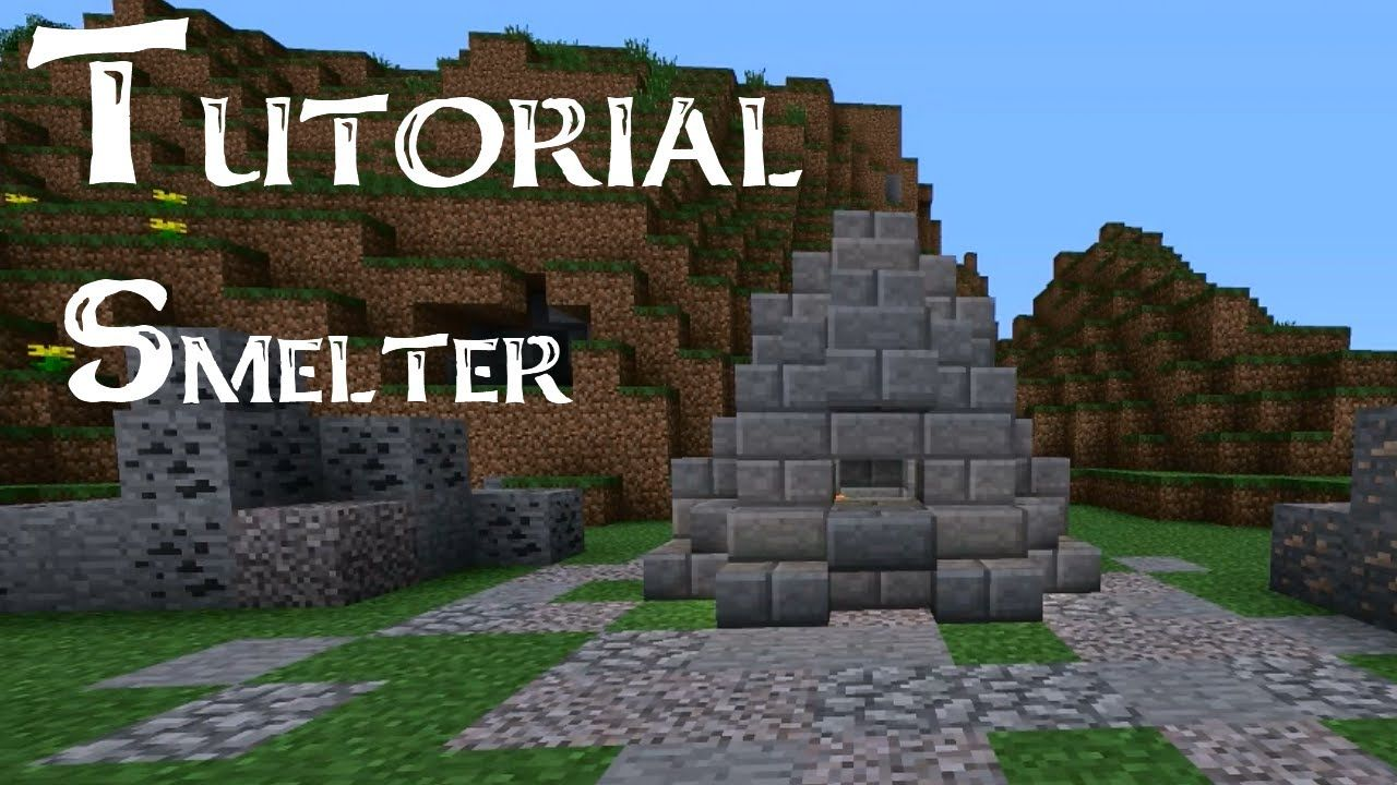 Minecraft Tutorial: How to build a medieval smelter | You
