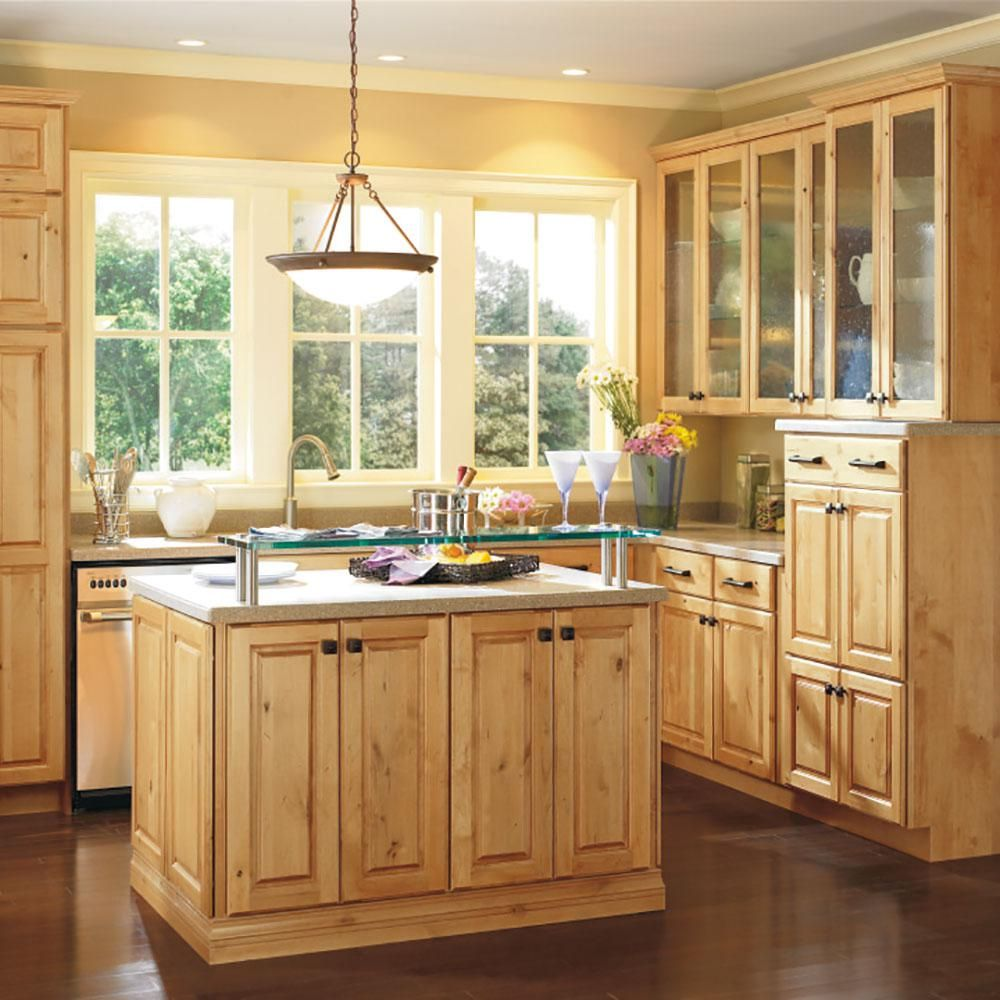 Thomasville Classic Custom Kitchen Cabinets Shown In Cottage Style Hdinsttsds The Home Depot In 2020 Kitchen Cabinet Styles Alder Kitchen Cabinets Rustic Kitchen