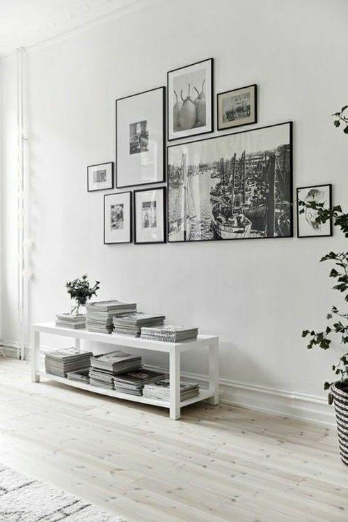 schwarz wei e fotos ein interieur in hellen farben die fotowand schreibt sich gut ein sehr. Black Bedroom Furniture Sets. Home Design Ideas