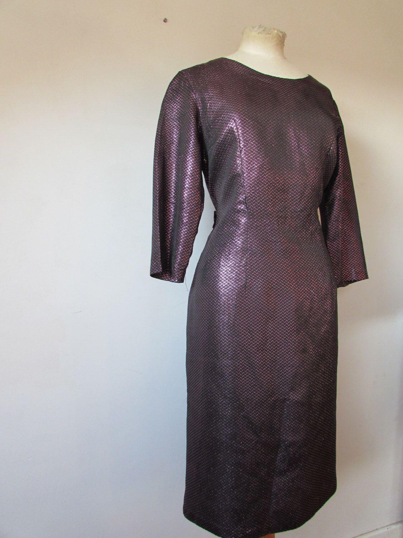 Sale original vintage us us u s dress us purple lurex