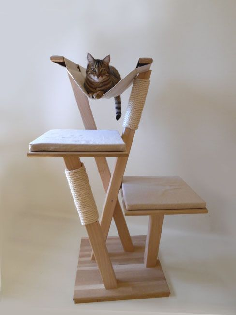 arbre chat en bois pets pinterest cat cat tree and pet stuff. Black Bedroom Furniture Sets. Home Design Ideas