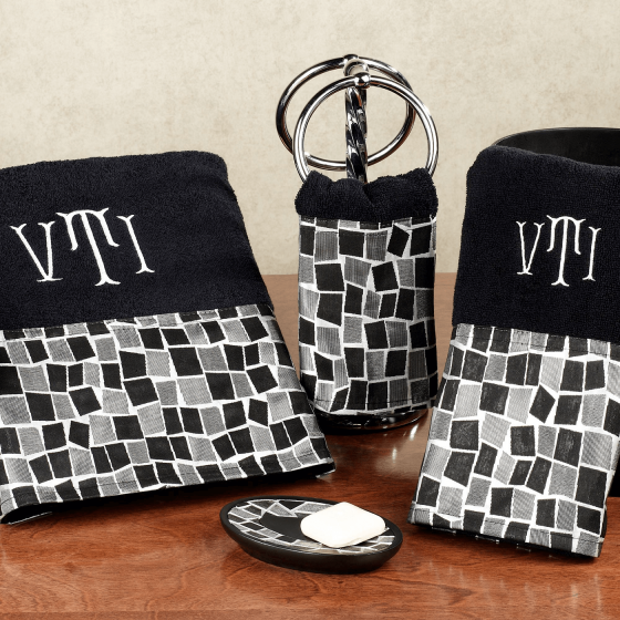 Black Decorative Bathroom Towels Bathroom Pinterest - Black decorative towels for small bathroom ideas