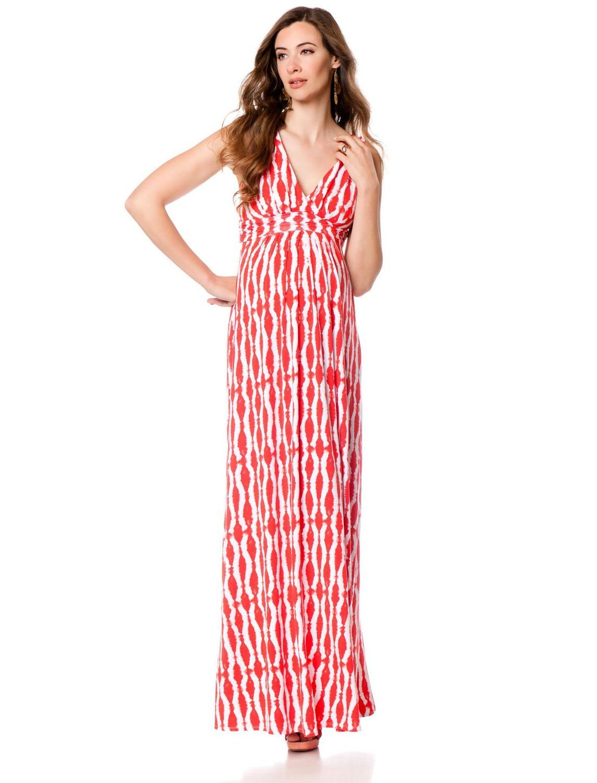 fb10dc3dd0a8d The Best Summer Maternity Dresses Designs : Red Maxi Maternity Dress ...