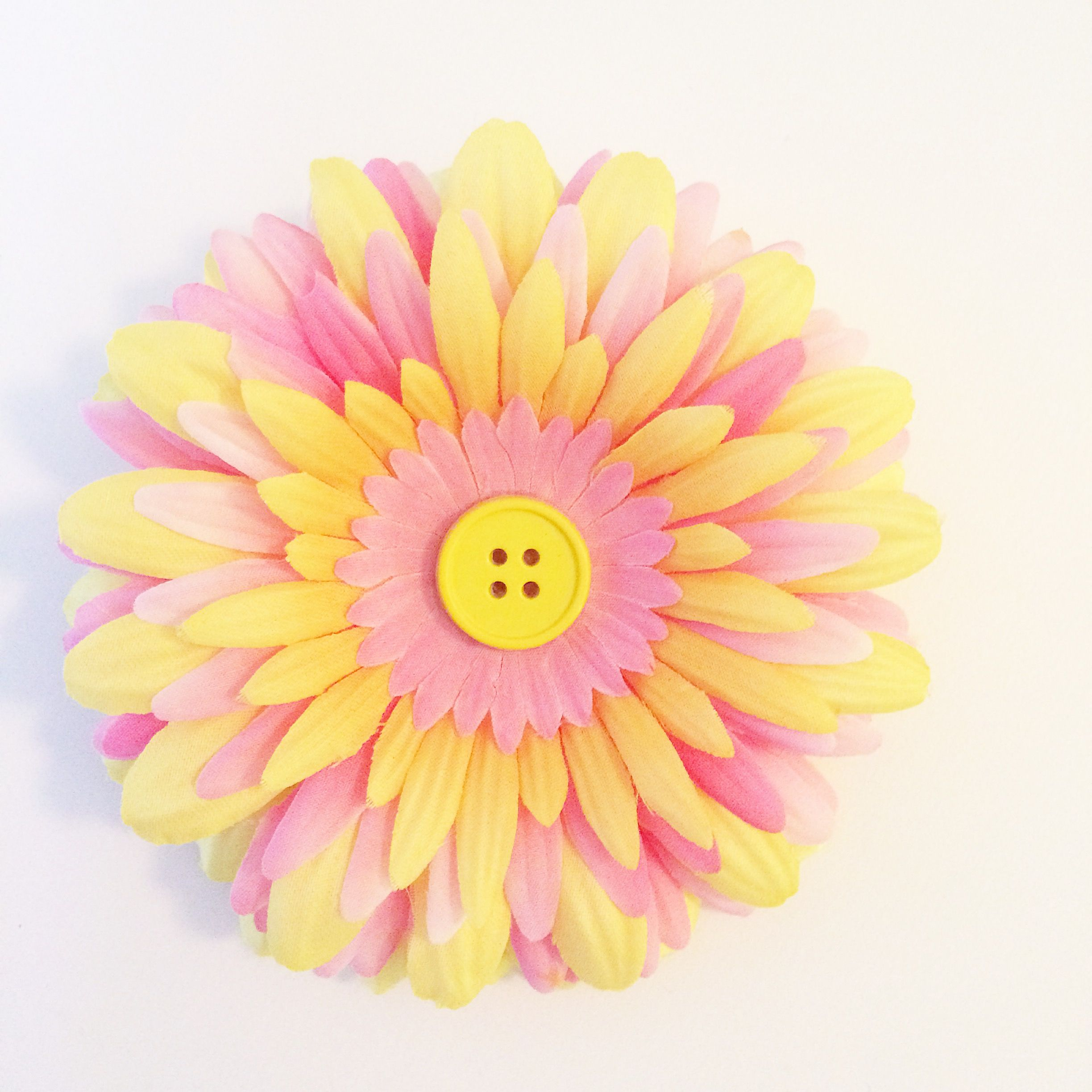Pink And Yellow Flower Hair Clip Liv Pretty Boutique Pinterest