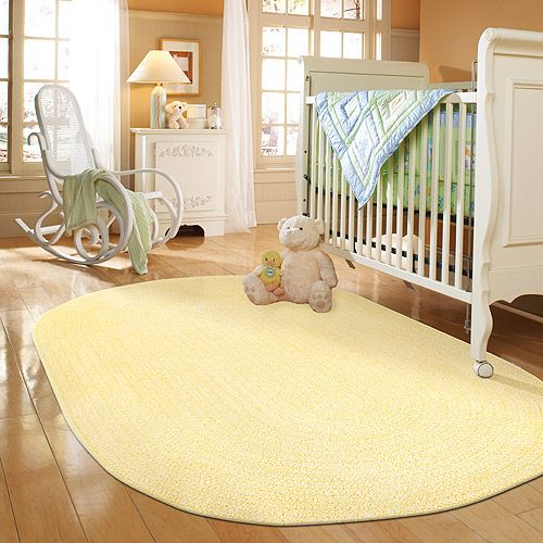 For The Spring Garden Yellow Braided Rug At Save Money Live Better