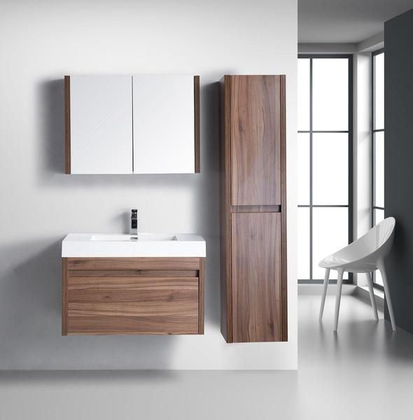 bathroom single item vanity walnut portfolio project ldlicf