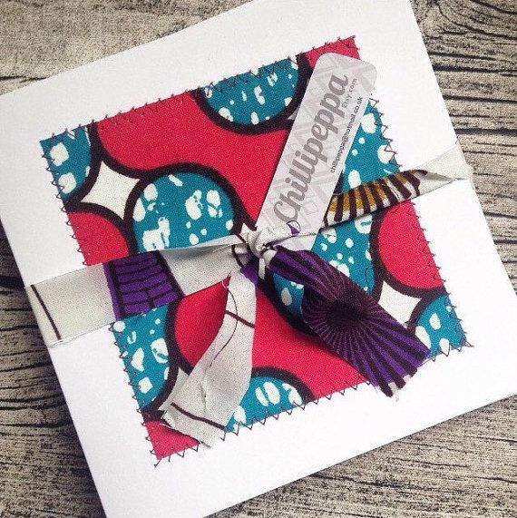 African Greeting Cards Fabric Greeting Cards By