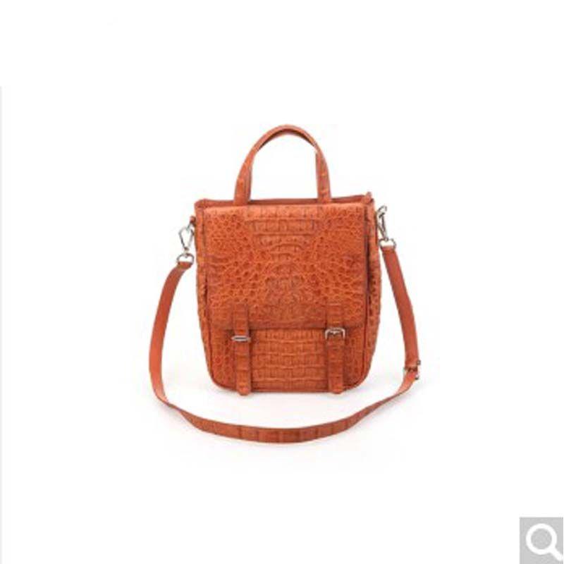 River Thailand Crocodile Leather Men S Handbags Back Skin Head Pike Handbag Vertical Square Yesterday Price Us 3800 00 3142 22 Eur
