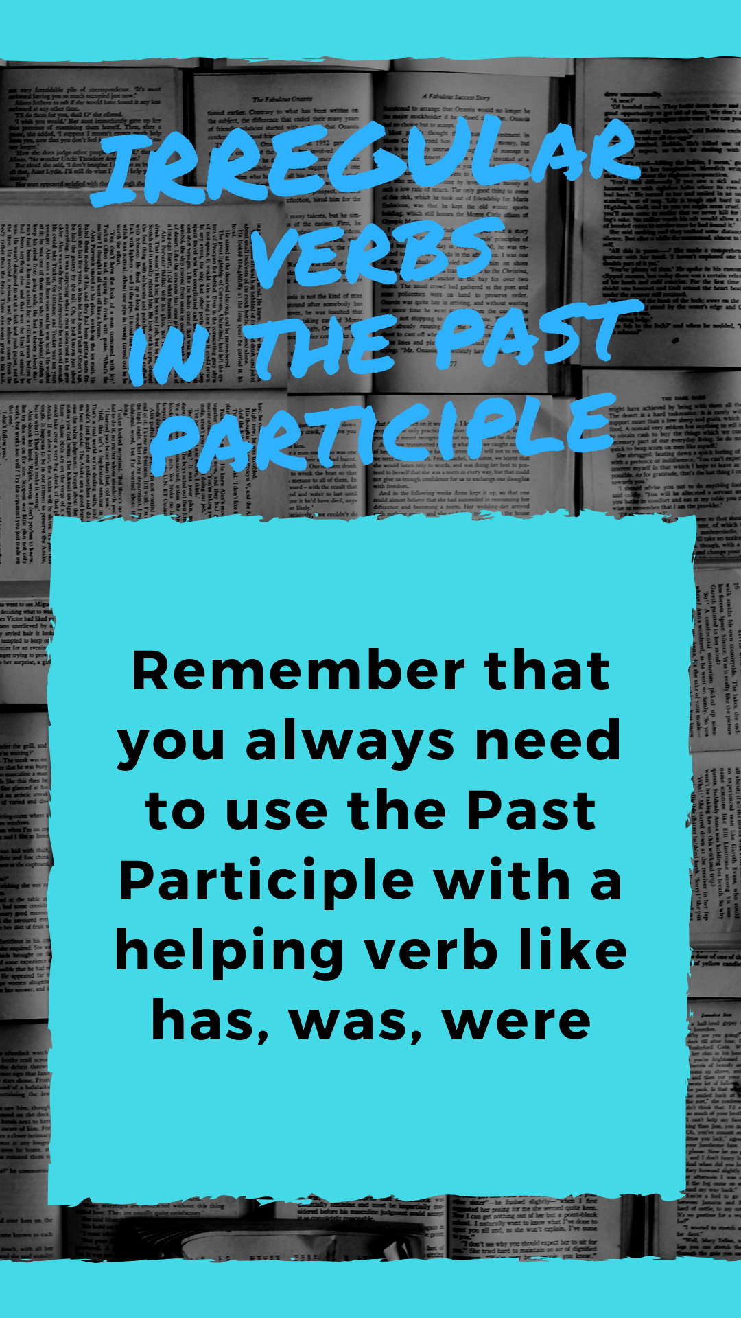 Irregular Verbs In The Past Participle