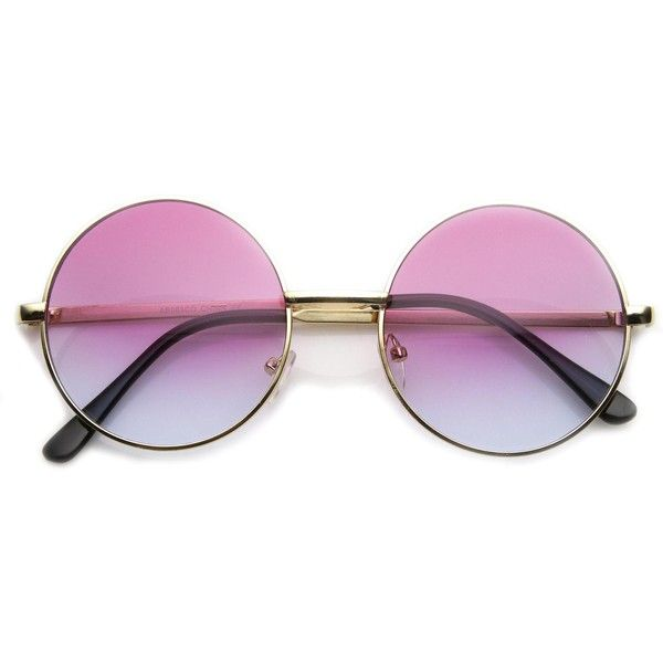 Retro Lennon Inspired Round Multi Color Rainbow Lens Sunglasses 9204 (15 CAD) ❤ liked on Polyvore featuring accessories, eyewear, sunglasses, glasses, acessorios, fillers, round lens glasses, metal glasses, metal sunglasses and retro style sunglasses