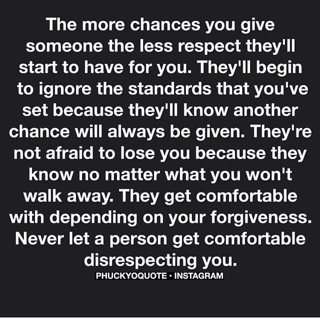 Never Let A Person Get Comfortable Disrespecting You
