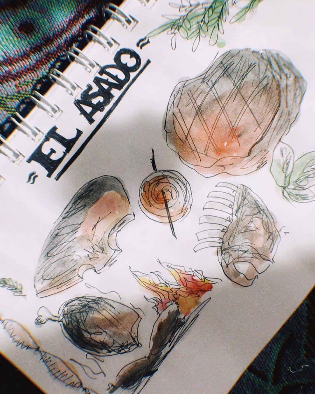 | EL AMOR |  _______________________________________________________________  #illustrationartists #illustragram #illustration #sketch #sketch_book #sketchbook #sketchdaily #meat  #food #foodie #comida #draw #drawing #elasado #asado #freelancerdesigner #creative #artistsoninstagram #artistsupport #design #dibujo #dibujos #lavidaendibujo #ilustrador #artist #illustratice #ba #buenosaires