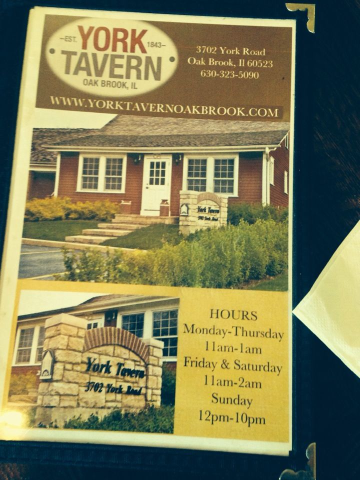 York Tavern in Oak Brook, IL Tavern, Oakbrook, York