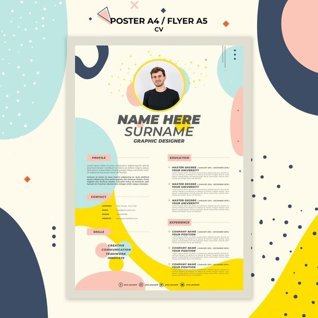 Stationery Poster Template Curriculum Vitae