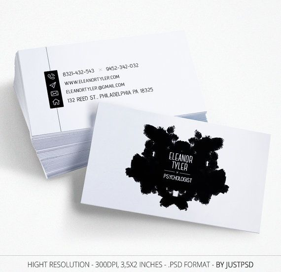 Free customize black and white business card business card for free customize black and white business card business card for psychologist colourmoves