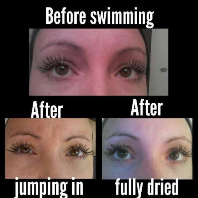 I get asked all the time if the 3D Fiber Lashes is water proof and the answer is water resistant...but holds up great in the water! www.3dlashlovelies.com