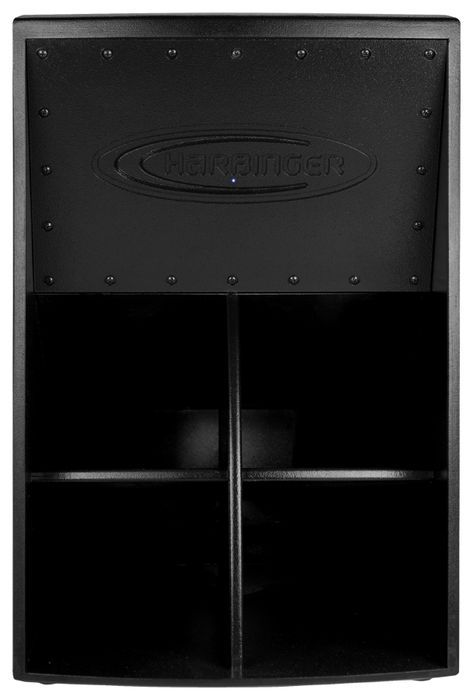Harbinger 1000w Powered Folded Horn Subwoofer With Bbe Processing Black