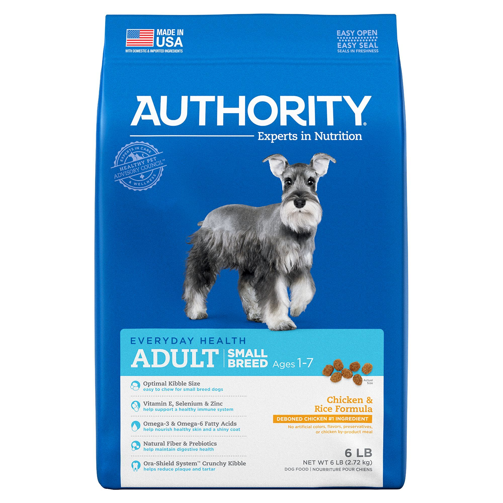Authority Small Breed Adult Dog Food Chicken Rice Small