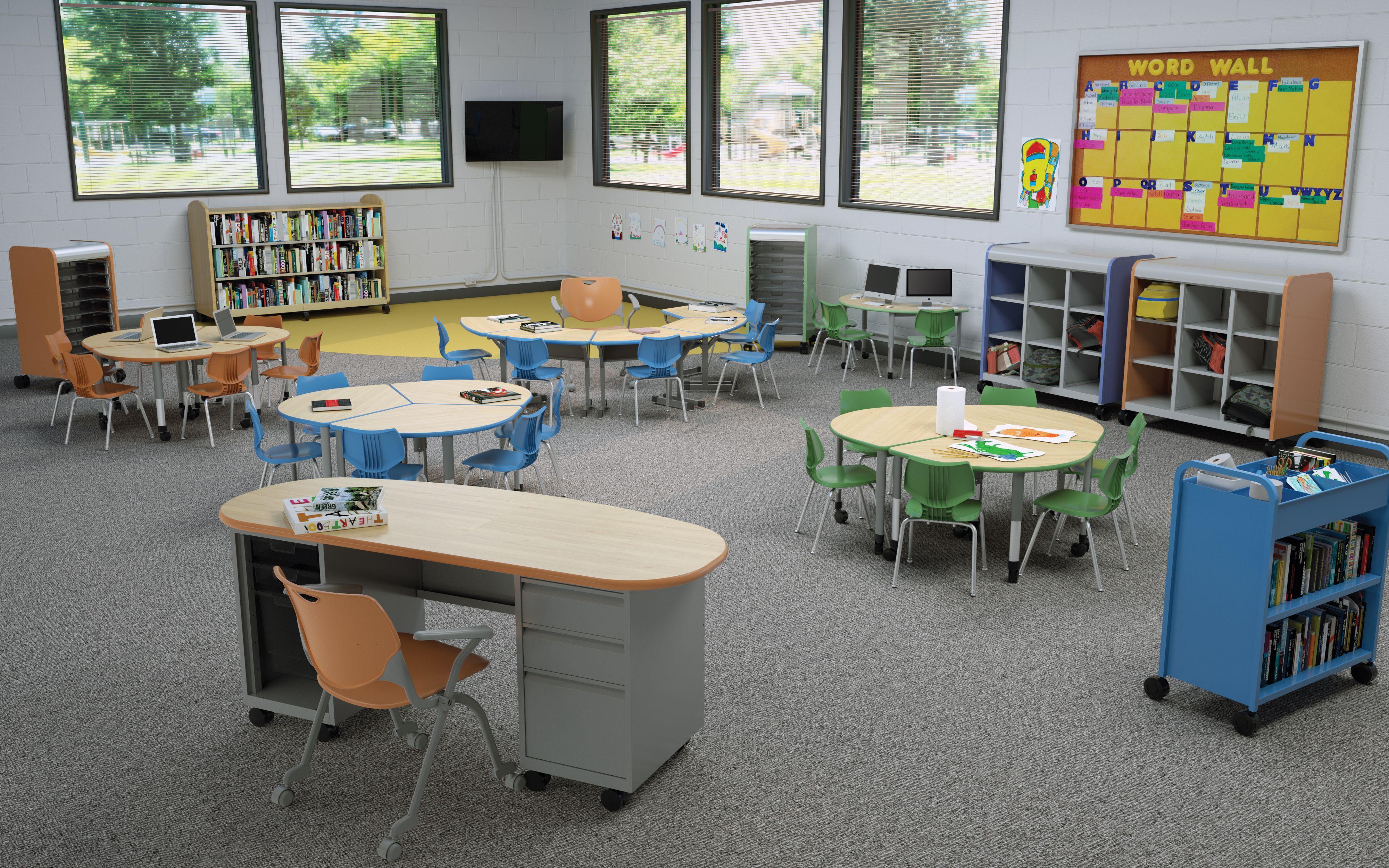 K 3 Environment Cascade Cubby 3 2 1 Collaborative Desks Flavors