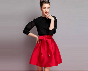 Flare Skirt with Bow (0-14)