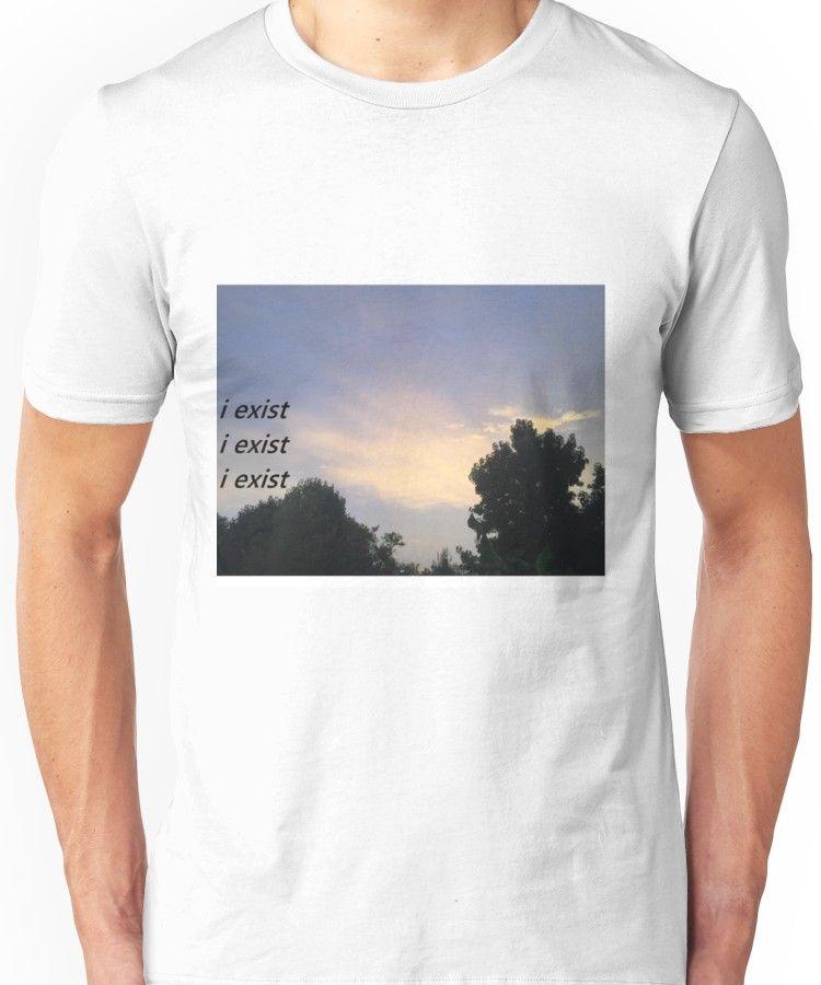 ffb79348bd91 i exist x3 | Slim Fit T-Shirt | Products | Shirts, T shirt, Tee shirts