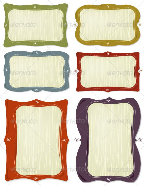 Retro Frames #GraphicRiver Snazzy retro-style frames. Easy to change ...