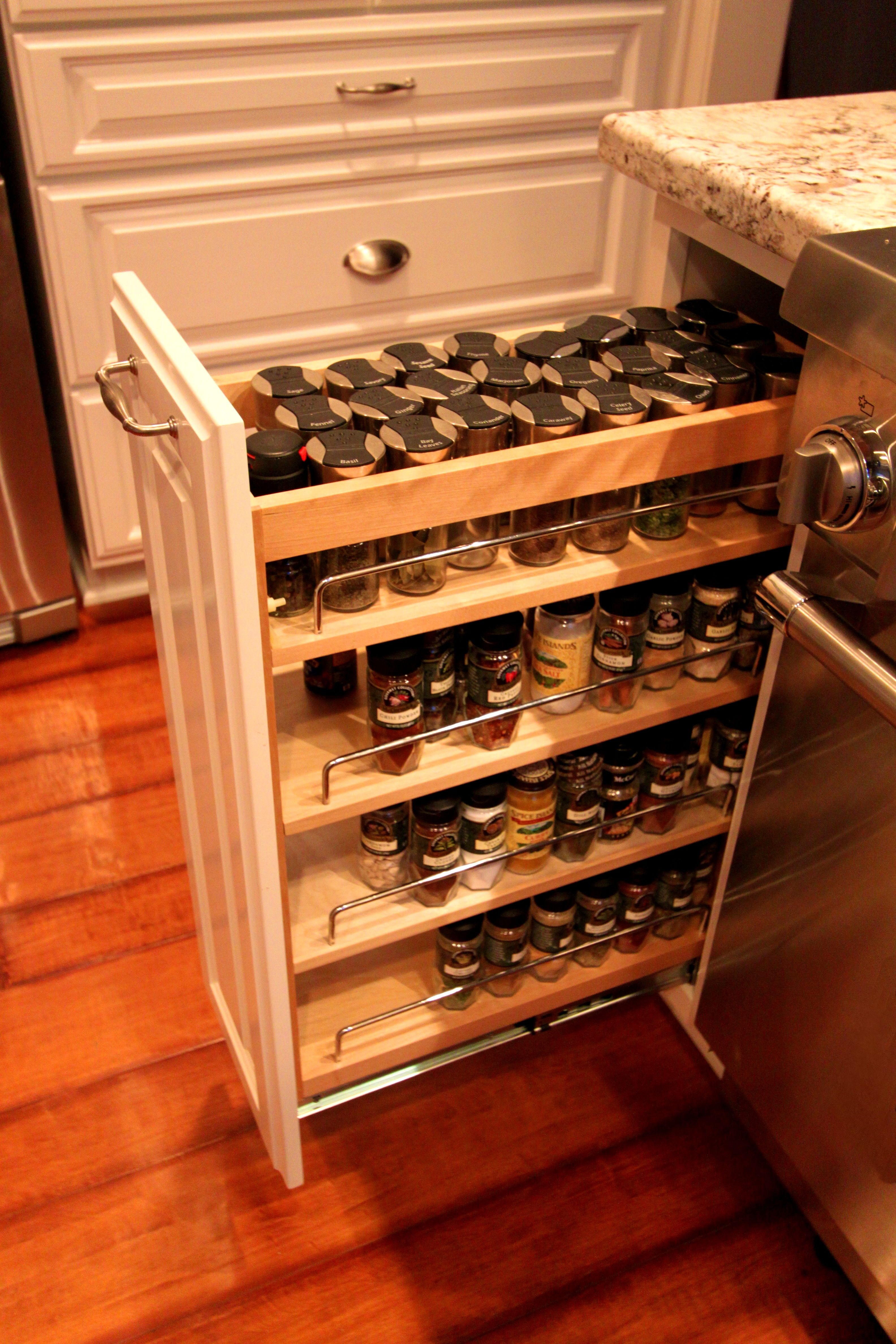 Kitchen Cabinet Spice Rack Utensil Storage Breathtaking Artwood Cabinets Pull Out