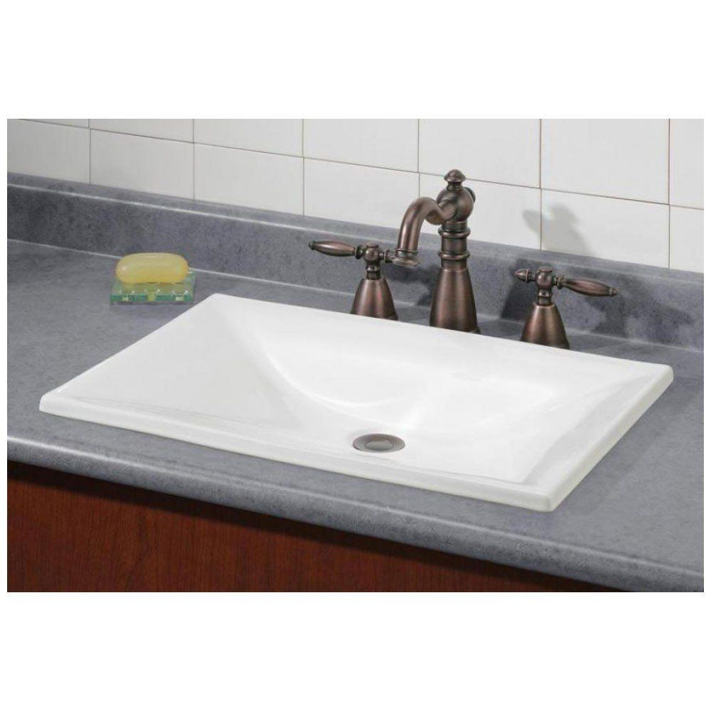 Cheviot Estoril Drop In Basin Sink Drop In Bathroom Sinks Rectangular Sink Bathroom Drop In Sink