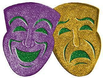 Hang our Comedy/Tragedy 3D Glitter Mask on your wall for sparkling ...