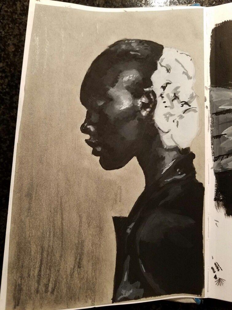 gouache is rad #gouache #blackandwhite #sketchbook #art