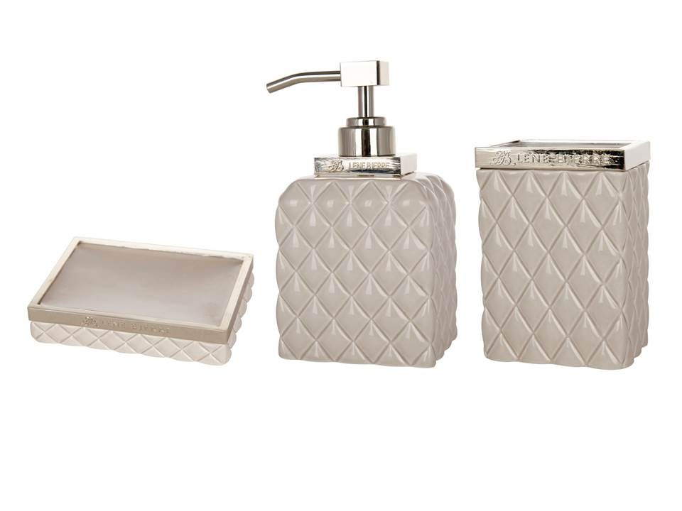 homegirl london finds luxurious looking bathroom accessories in a soft beige colour trimmed with gold i love the criss cross pattern adorning the soap dish
