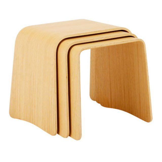 Tables gigognes en chene Trio chez Habitat | tables basses ...