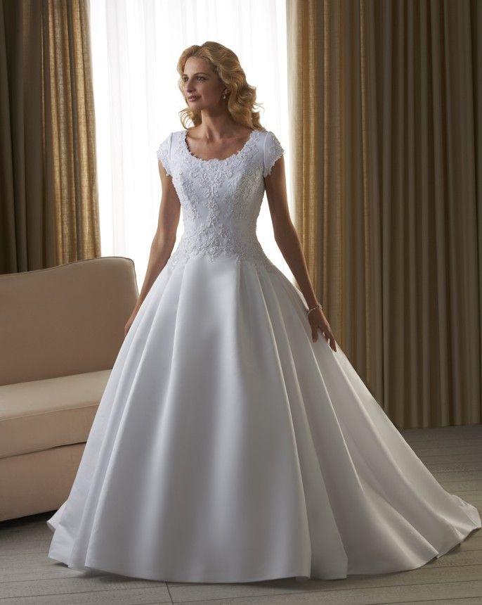 Bonny bliss 2215 modest ball gown wedding dress we shall for Modest ball gown wedding dresses