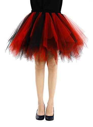 Bbonlinedress Womens 1950s Vintage Petticoat Puffy Tutu Ballet Bubble Skirt