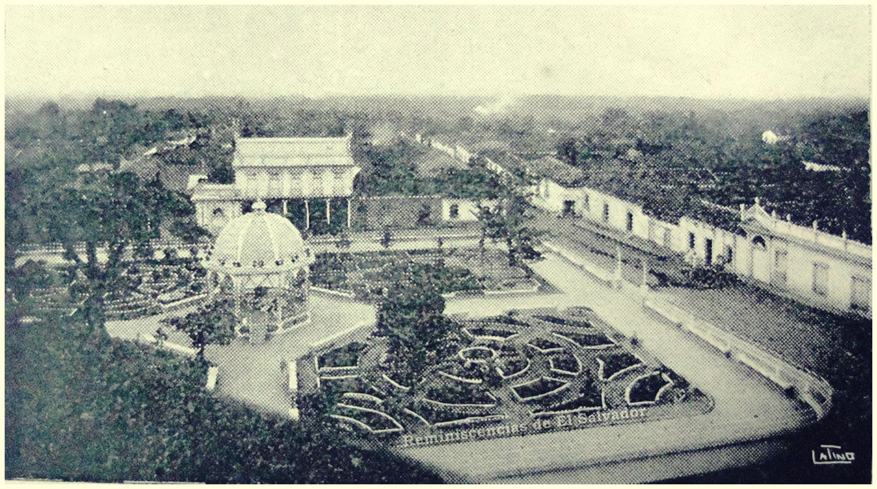 Parque Dr. Nicolas Peña, en Zacatecoluca, inaugurado en 1930 y ...