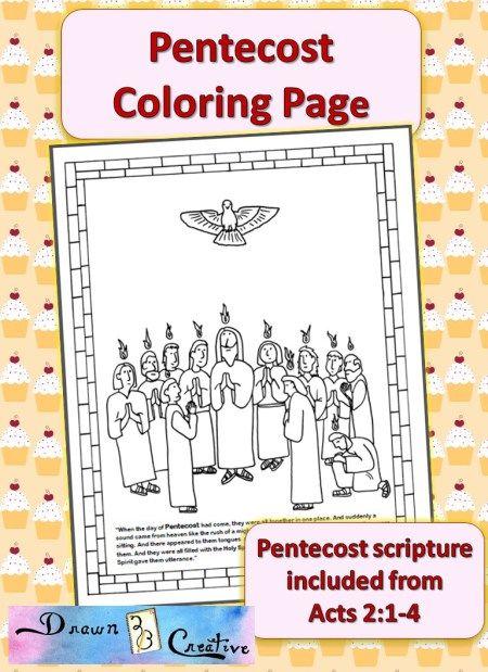 Pentecostés para colorear | Para niños | Pinterest | Pentecostés ...