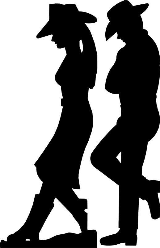 cowboy and cowgirl silhouette patterns rh pinterest com cowboy silhouette clip art free cowboy silhouette clip art images