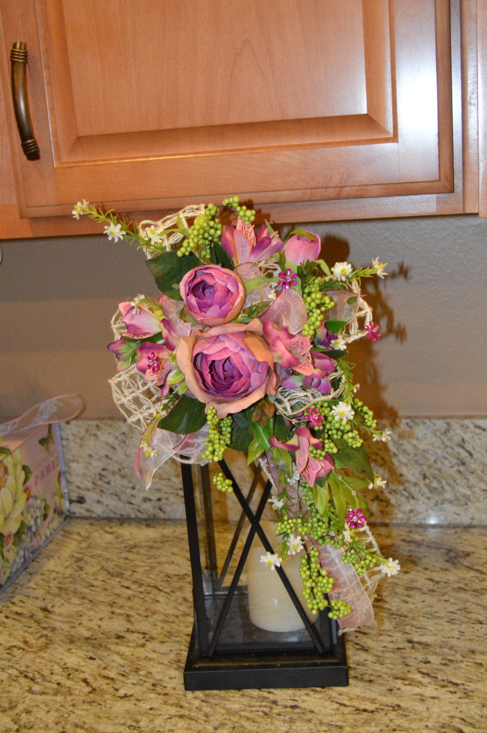 Easter wedding bouquets  Lantern Swag Candlestick Swag Rose Swag Wedding Decor Cabbage