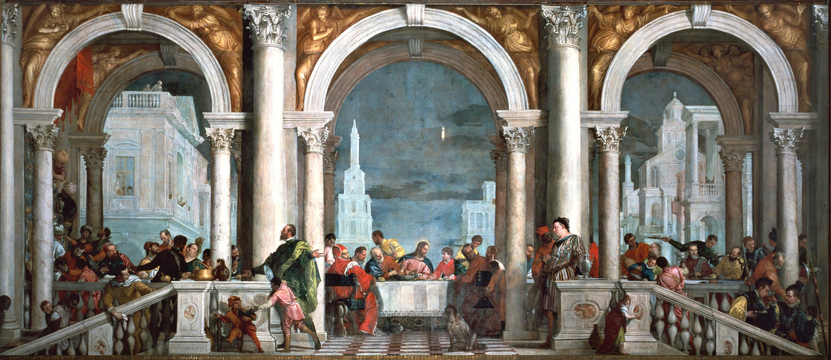 Veronese - Feast on the house of Levi (1573)