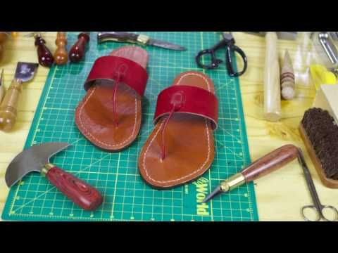 (16) Leather: Vegetable-tanned Leather Sandals - YouTube