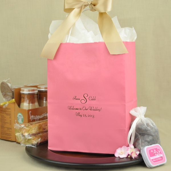 8 X 10 Kraft Wedding Welcome Gift Bags Personalized Wedding Welcome Gifts Wedding Guest Gift Bags Hotels Guest Gift Bags