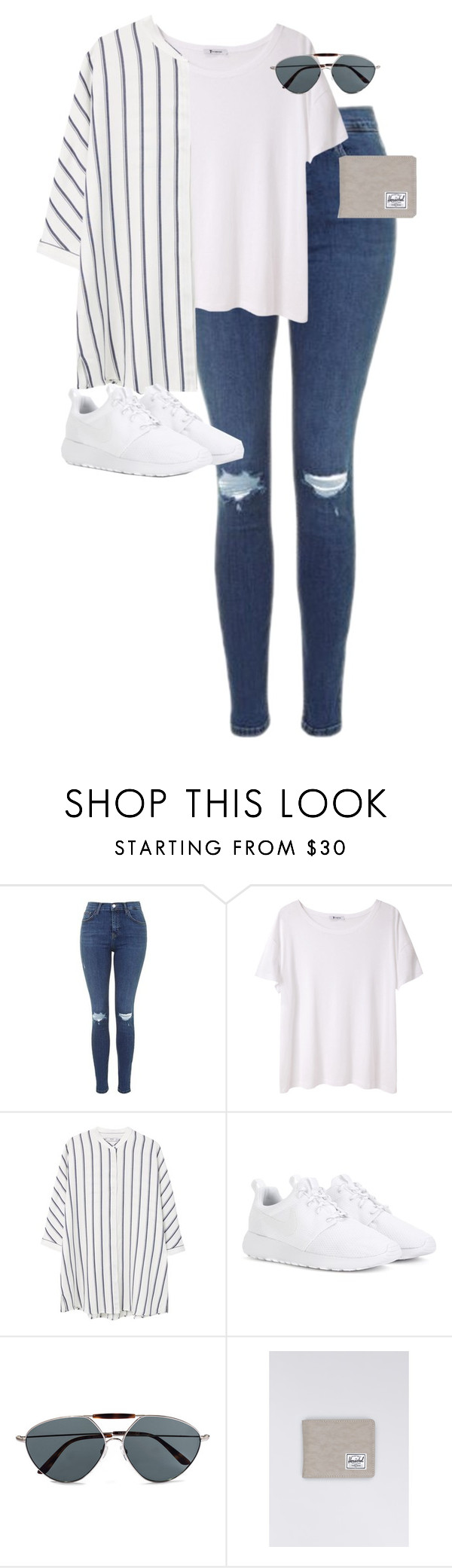 """Untitled #12517"" by alexsrogers ❤ liked on Polyvore featuring Topshop, T By Alexander Wang, MANGO, NIKE, Valentino and Herschel"